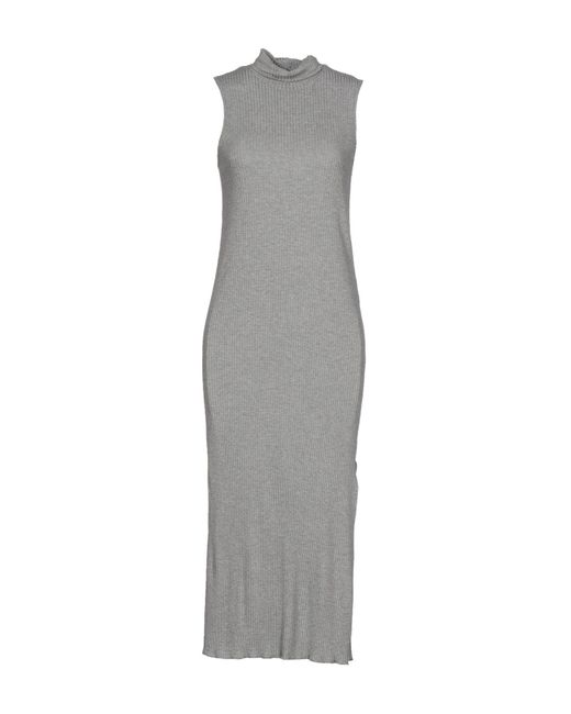 Imperial Gray 3/4 Length Dress