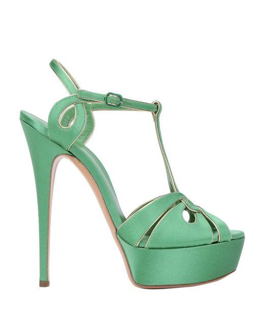 Casadei Green Sandals