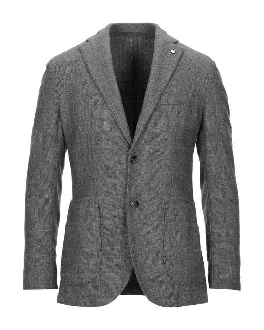 L.b.m. 1911 Gray Suit Jacket for men