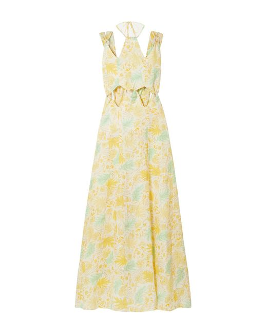 Cult Gaia Yellow Langes Kleid
