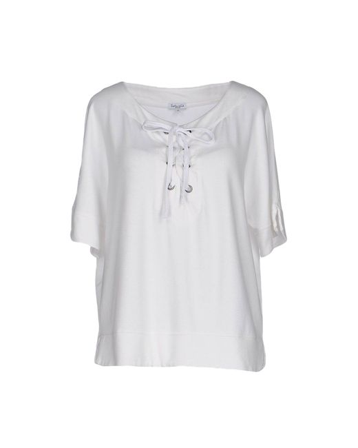 Splendid - White Sweatshirt - Lyst