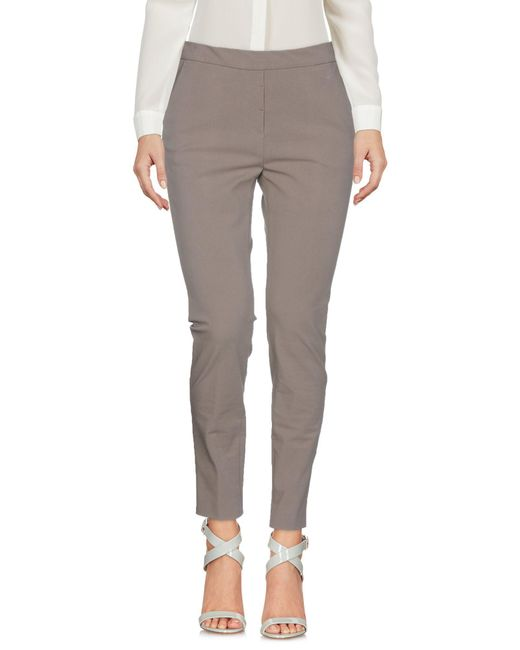 Peserico - Gray Casual Pants - Lyst