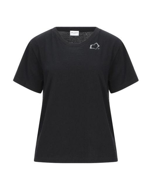 Saint Laurent Camiseta de mujer de color negro X5zAe