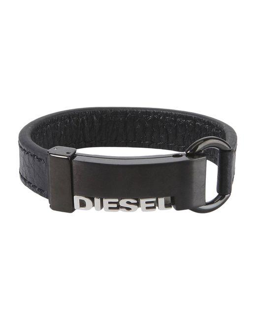 DIESEL - Black Bracelet for Men - Lyst