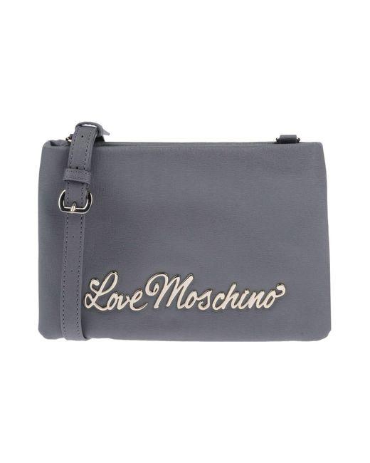 Love Moschino - Gray Cross-body Bags - Lyst