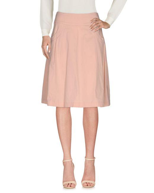 Pianurastudio - Pink Knee Length Skirt - Lyst