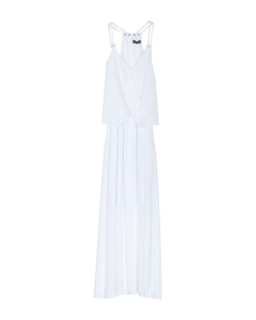 Soallure White Langes Kleid
