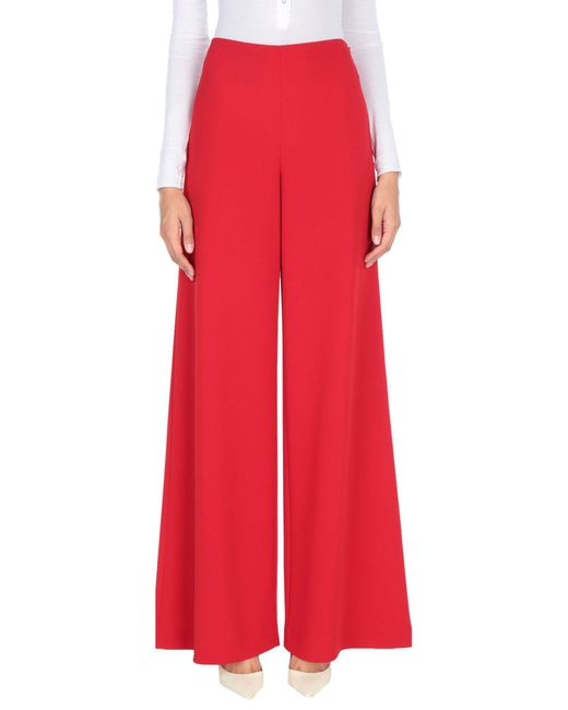 Ralph Lauren Collection - Red Casual Pants - Lyst