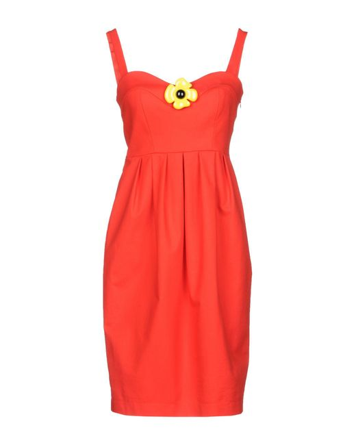 Boutique Moschino Red Short Dress