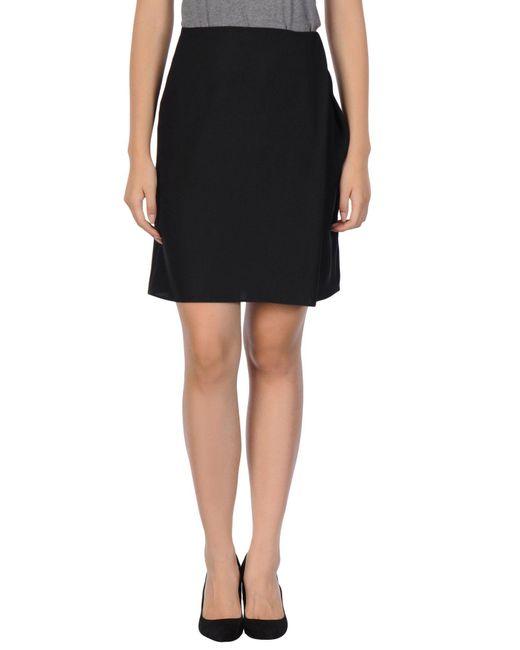 Armani - Black Knee Length Skirt - Lyst