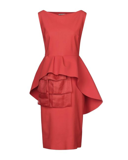 La Petite Robe Di Chiara Boni Red Knielanges Kleid