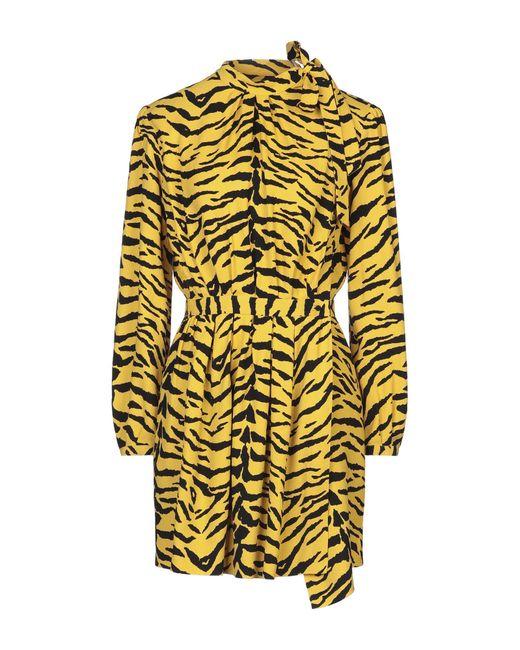 Robe courte Saint Laurent en coloris Multicolor