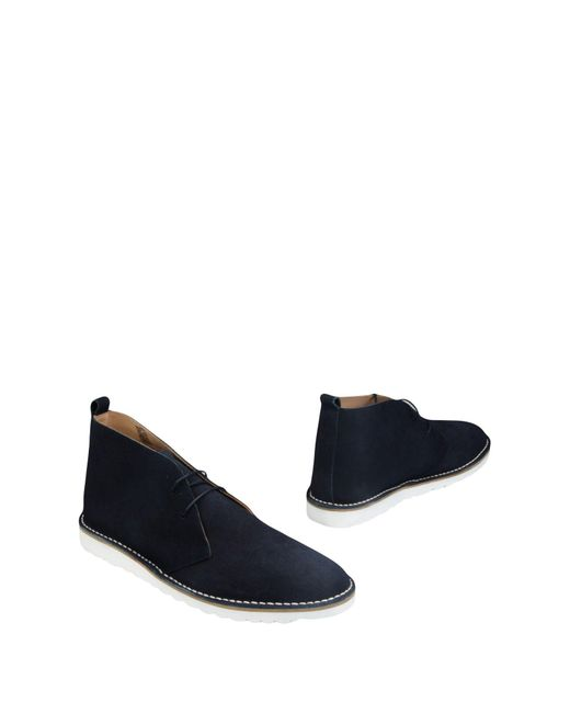 Men's Blue Ankle Boots