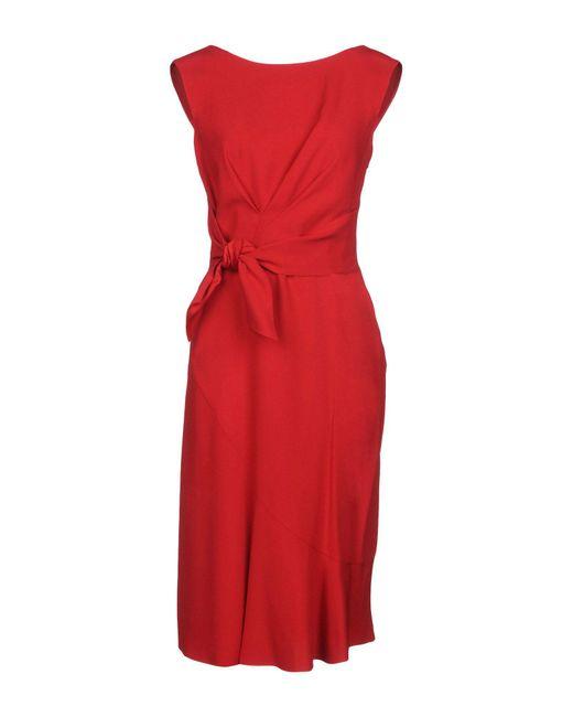 Alberta Ferretti - Red Knee-length Dress - Lyst