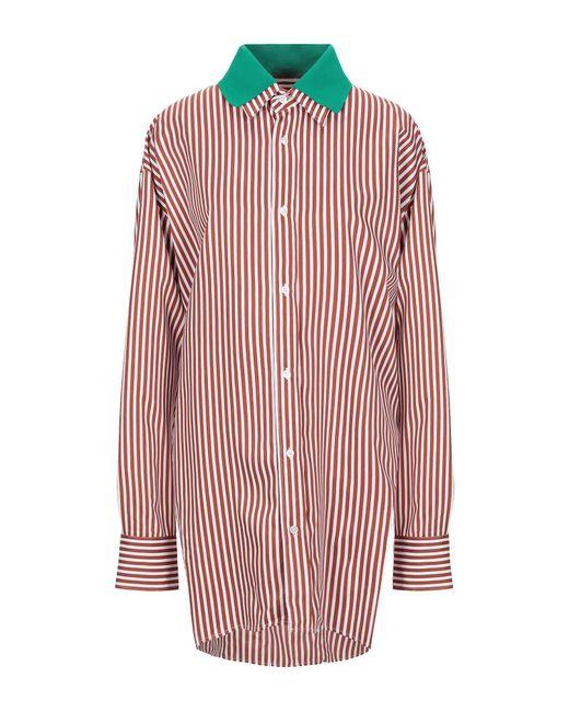 Plan C Camisa de mujer de color rojo PL10t