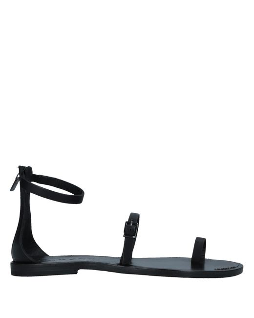Manila Grace - Black Toe Post Sandal - Lyst