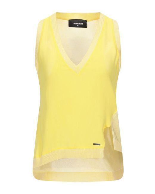 DSquared² Top de mujer de color amarillo Jw481