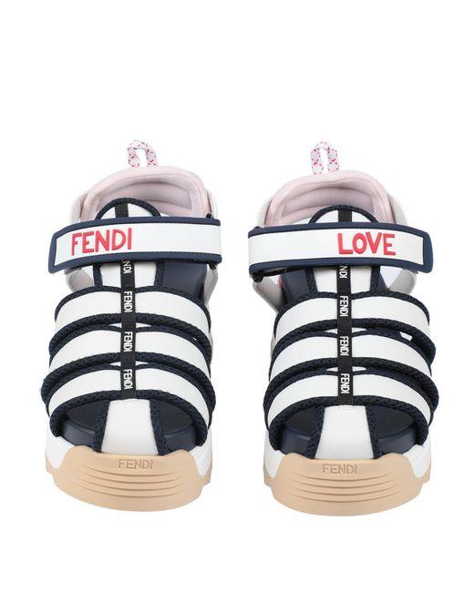 Fendi White Sandals