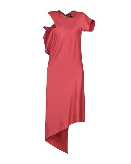 Vivienne Westwood Anglomania Red 3/4 Length Dress