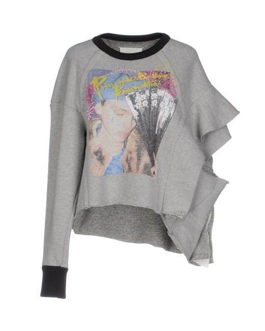 Maison Margiela - Gray Sweatshirt - Lyst