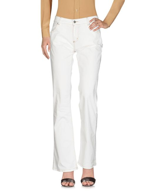 Henry Cotton's White Casual Pants