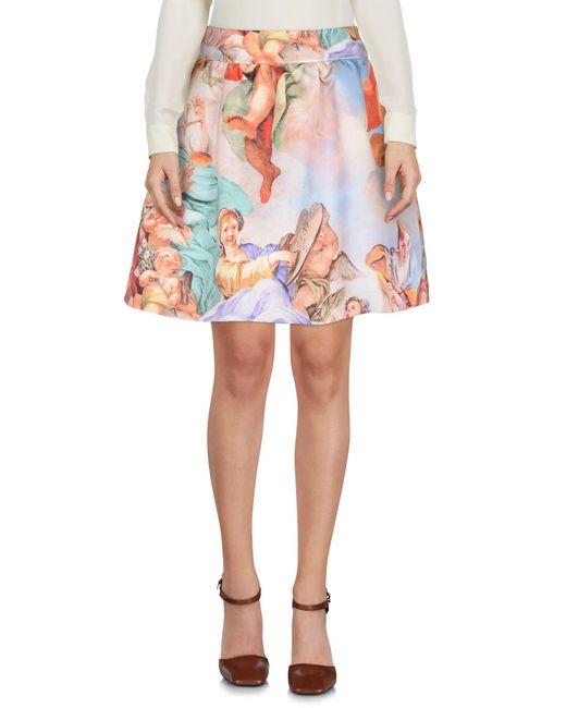 Moschino - Natural Mini Skirt - Lyst