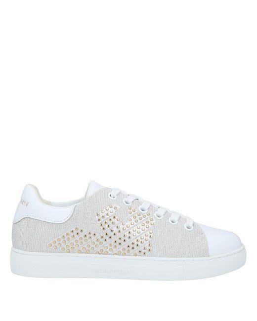 Emporio Armani White Low Sneakers & Tennisschuhe