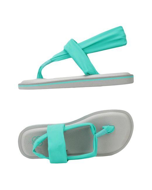 JOYCOLORS - Green Toe Strap Sandal - Lyst