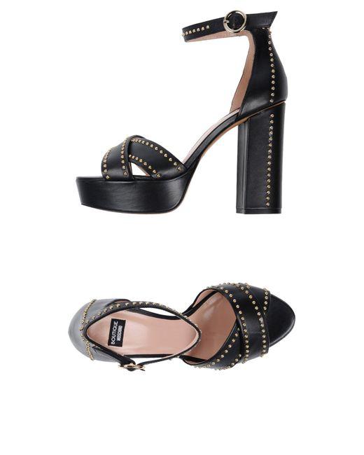 Boutique Moschino - Black Sandals - Lyst