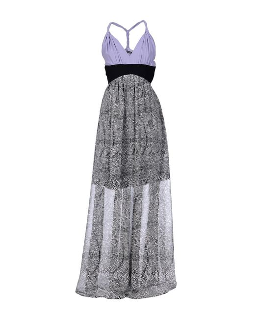 Annarita N. - Purple Long Dress - Lyst