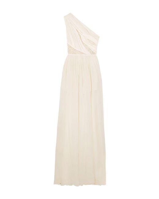 Elie Saab White Long Dress
