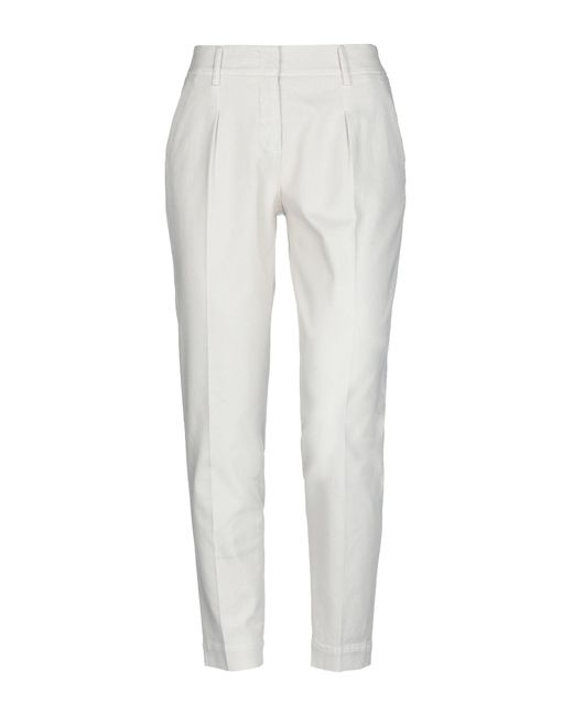 Cappellini By Peserico White Casual Pants