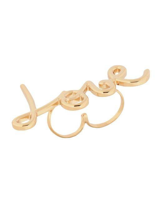Lanvin | Metallic Ring | Lyst