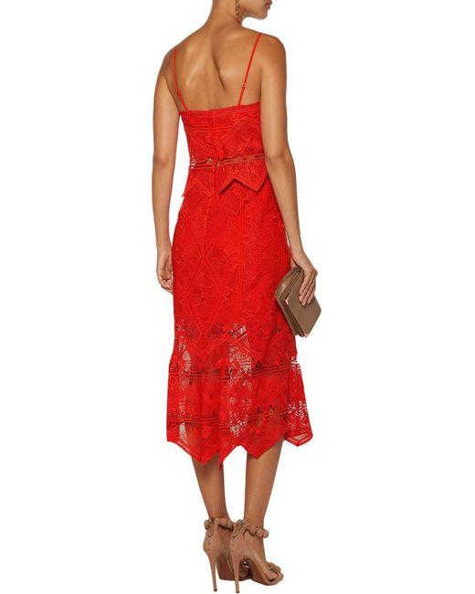 Jonathan Simkhai Red 3/4 Length Skirt