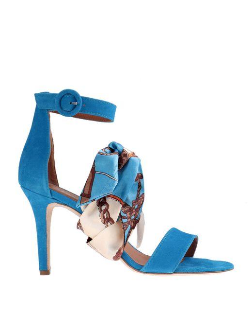 Via Roma 15 Sandalias de mujer de color azul