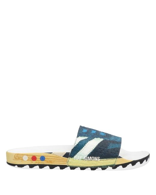 Adidas By Raf Simons Blue Sandals for men