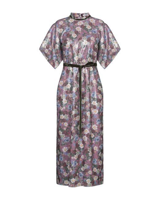 Erdem Robe longue femme de coloris violet auIiG
