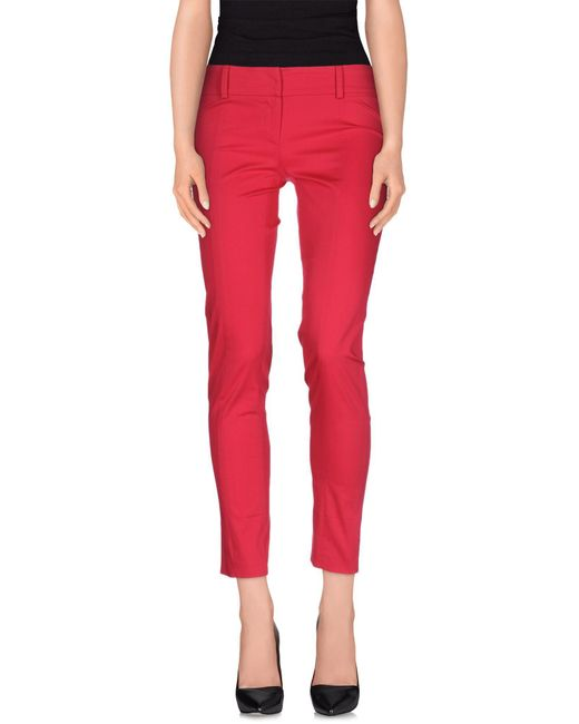 Patrizia Pepe - Pink Casual Trouser - Lyst