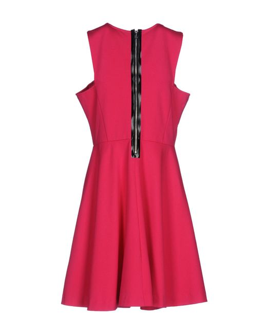 Guess Synthetic Short Dress in Fuchsia (Pink) - Lyst