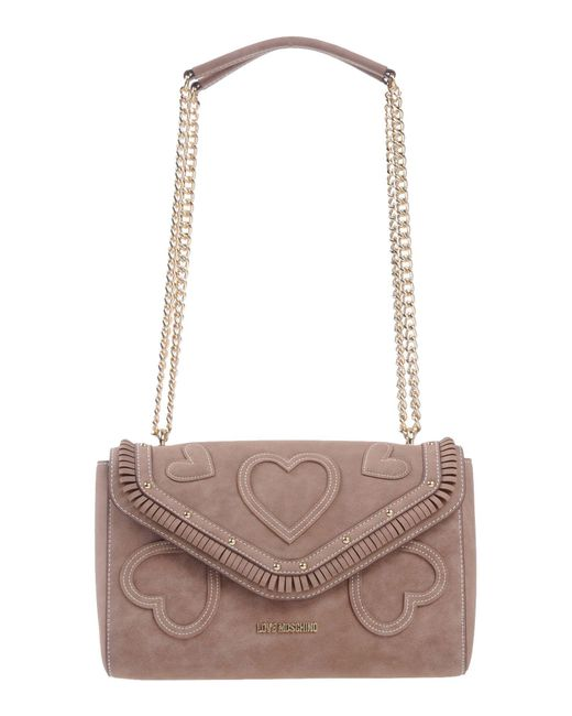 Love Moschino - Brown Shoulder Bags - Lyst