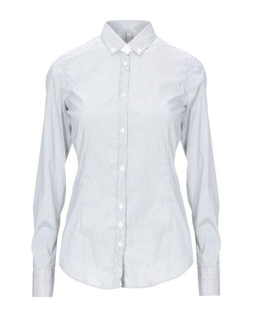 Aglini Camisa de mujer de color gris