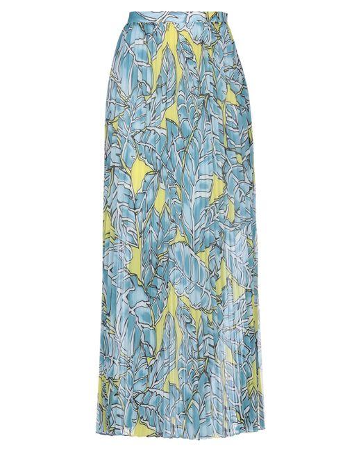 LUCKYLU  Milano Blue Long Skirt
