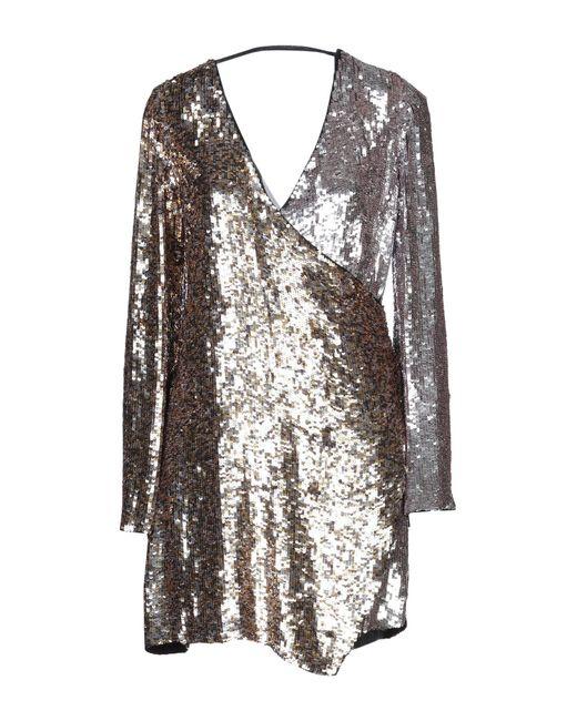 Pinko Robe courte femme de coloris métallisé f56Z4
