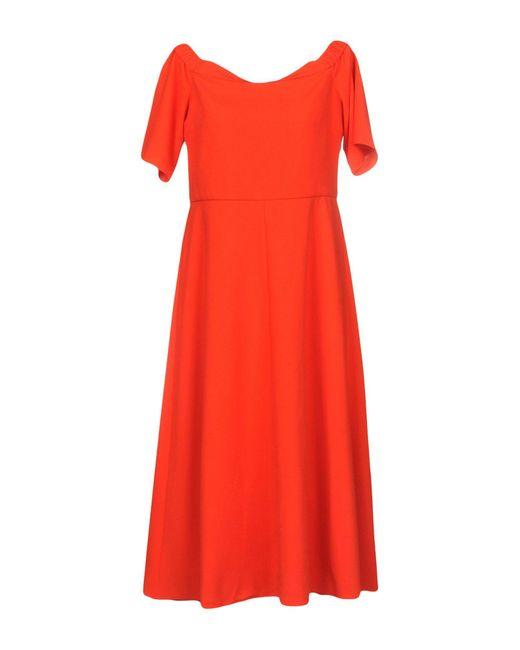 Tibi Red Knielanges Kleid