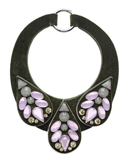 Emporio Armani - Green Necklace - Lyst