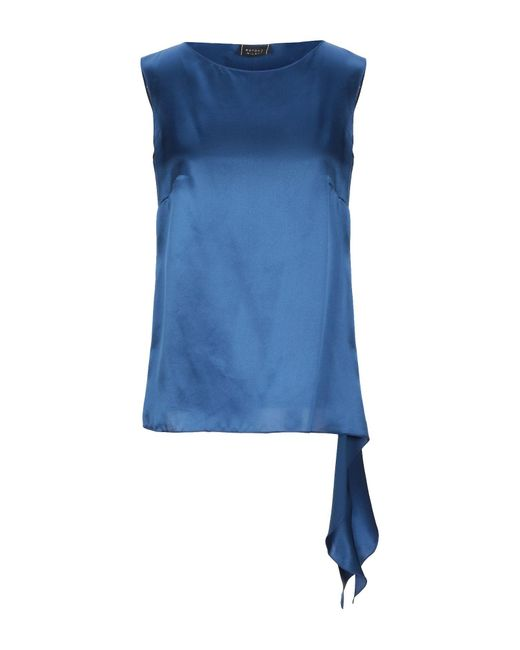 Botondi Milano Top de mujer de color azul VuZJh