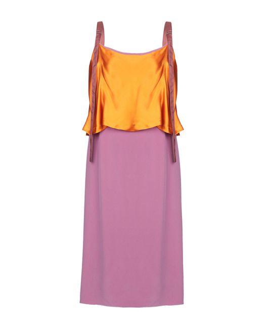 Sies Marjan Robe mi-longue femme de coloris violet 62ktU