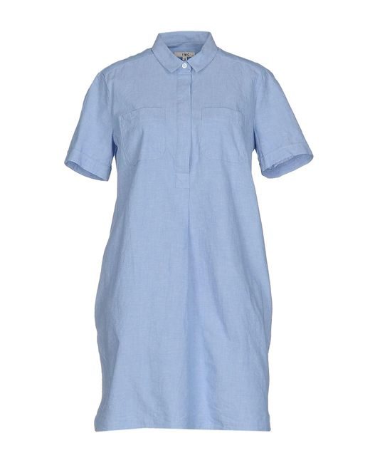 YMC - Blue Short Dress - Lyst