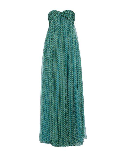 Rochas Green Long Dress