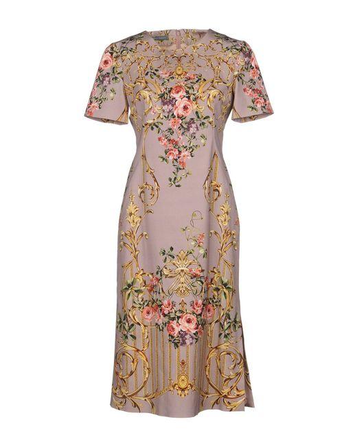 Alberta Ferretti - Pink Knee-length Dresses - Lyst